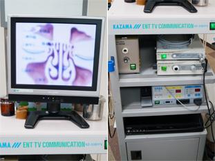 内視鏡検査機器 主に喉や鼻などの検査に使用します。